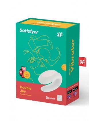 Stimulateur Double Joy blanc - Satisfyer - Stimulateurs double