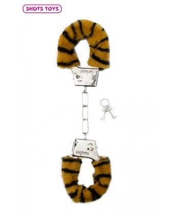 Menottes fourrure Shots - tigre - Attaches, contraintes