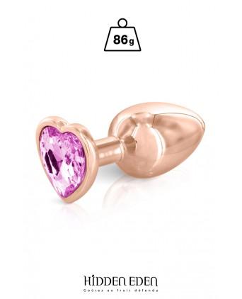 Plug bijou coeur aluminium rose gold M - Hidden Eden - Plugs , anus pickets