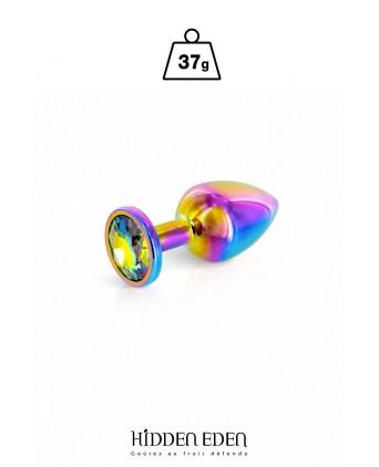 Plug bijou aluminium Rainbow XS - Hidden Eden - Plugs , anus pickets