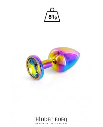 Plug bijou aluminium Rainbow S - Hidden Eden - Plugs , anus pickets