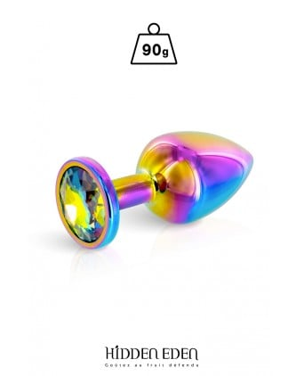 Plug bijou aluminium Rainbow M - Hidden Eden - Plugs , anus pickets