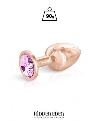 Plug bijou aluminium rose gold M - Hidden Eden - Plugs , anus pickets