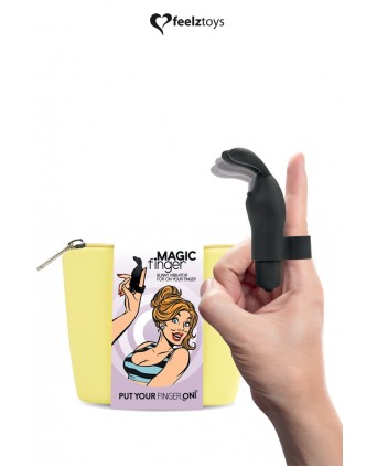 Doigt vibrant Magic Finger noir - FeelzToys - Busyx Sextoys