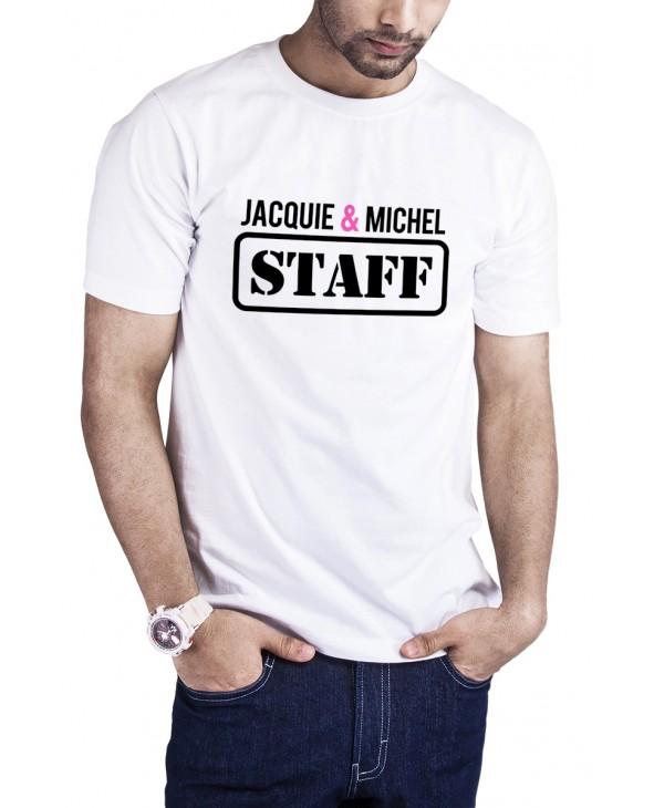 T-shirt Jacquie et Michel Staff - blanc - T-shirts Homme