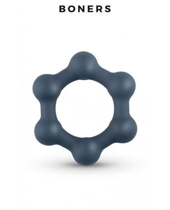 Cockring Hexagonal avec billes en acier - Boners - Anneaux vibrants