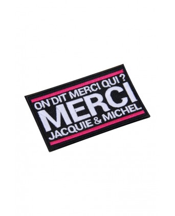 Écusson rectangle Jacquie et Michel - Écussons
