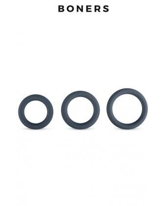 Kit de 3 anneaux de pénis - Boners - Anneaux péniens