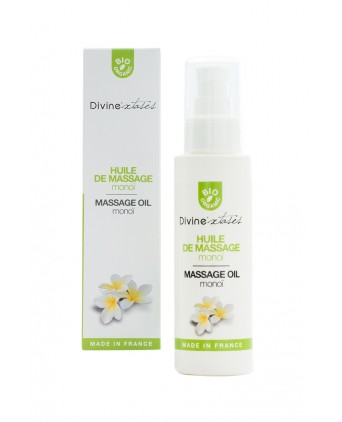 Huile de massage BIO Monoi - Divinextases - Massages érotiques