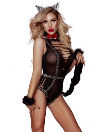 Costume sexy de Catwoman féline - Paris Hollywood - Déguisements femme