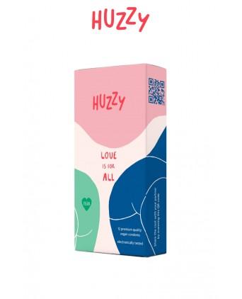 Huzzy - Lot de 12 préservatifs vegan - Préservatifs