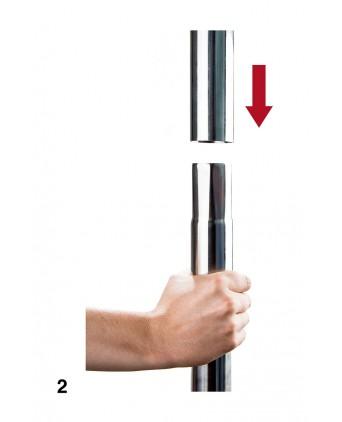 Barre de Pole Dance - Argent - Import busyx