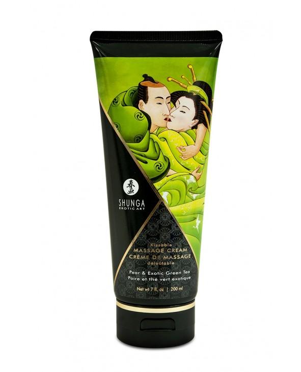 Crème de massage délectable poire et thé vert exotique - Shunga - Import busyx