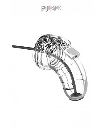 Cage de chasteté 6,5cm avec plug d'urètre - ManCage 15 - Chasteté