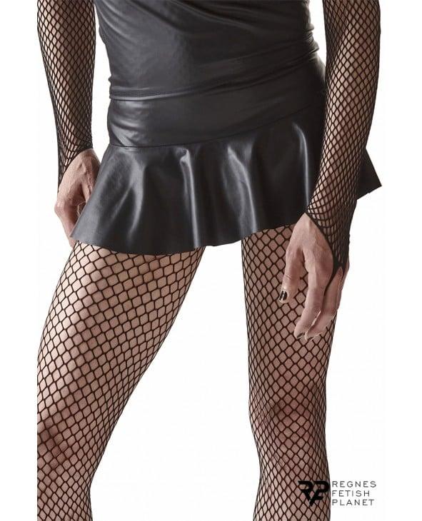 Mini jupe noire avec dos court - Regnes - Prêt à porter