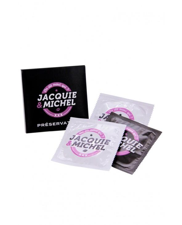 Pochette de 3 préservatifs Jacquie et Michel - Préservatifs