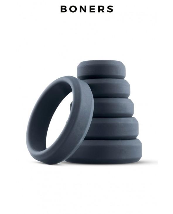 Set de 6 anneaux de pénis larges - Boners - Import busyx