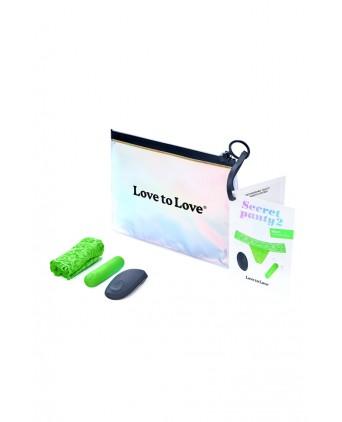 Culotte vibrante télécommandée Secret Panty 2 vert fluo - Jeux couple