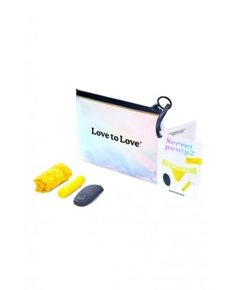 Culotte vibrante télécommandée Secret Panty 2 jaune fluo - Jeux couple