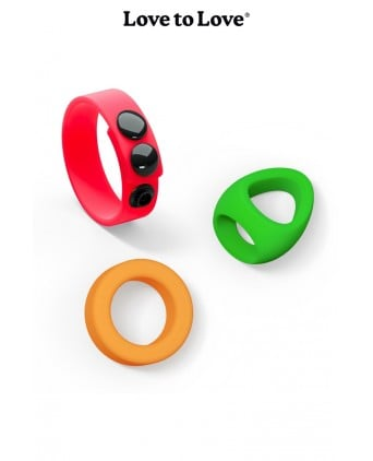 Kit Neon Ring - Love to Love - Import busyx