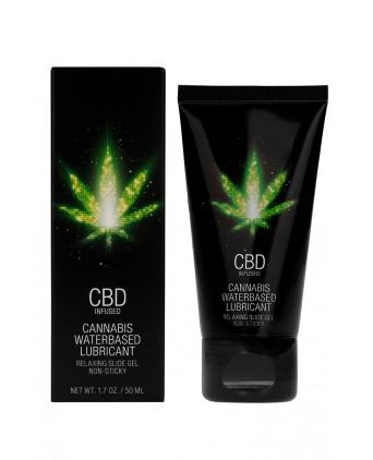 Lubrifiant CBD Eau Cannabis 50ml - Lubrifiants base eau