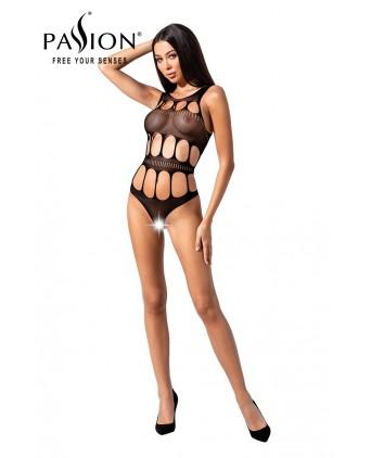 Body ouvert résille BS083 - Noir - Body et top