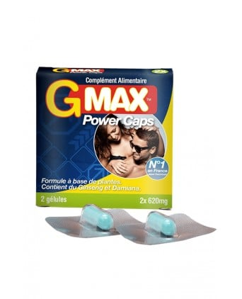 G-Max Power Caps Homme (2 gélules) - Aphrodisiaques homme