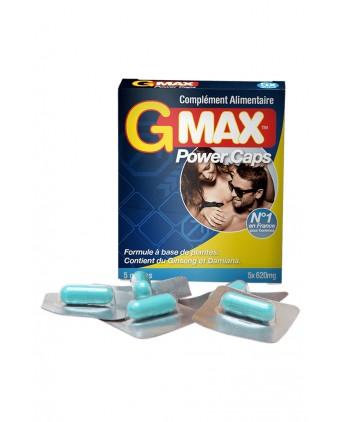 G-Max Power Caps Homme (5 gélules) - Aphrodisiaques homme