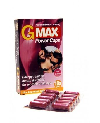 G-Max Power Caps Femme (10 gélules) - Import busyx