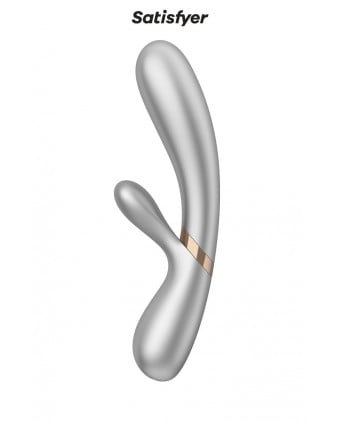Rabbit chauffant Hot Lover silver - Satisfyer - Import busyx