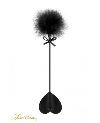 Tapette coeur avec pompon noir - Sweet Caress - Import busyx