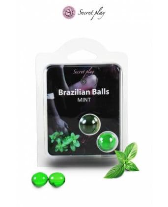 2 Brazilian balls - menthe - Massages érotiques