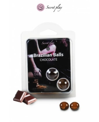 2 Brazilian Balls - chocolat - Massages érotiques