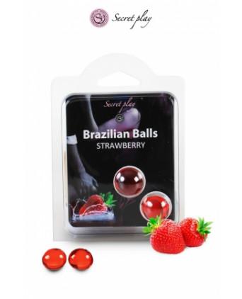 2 Brazilian Balls - fraise - Massages érotiques