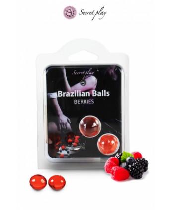 2 Brazilian Balls - baies rouges - Massages érotiques