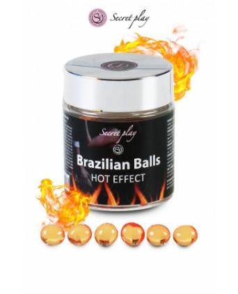 6 Brazilian Balls - effet chaleur - Massages érotiques