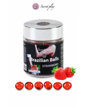 6 Brazilian Balls - fraise - Massages érotiques