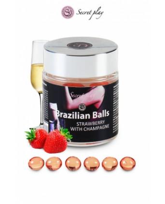 6 Brazilian Balls - fraise & champagne - Massages érotiques