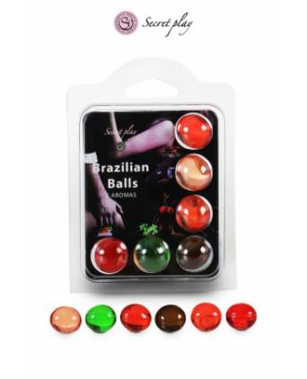 6 Brazilian Balls parfums variés - Massages érotiques