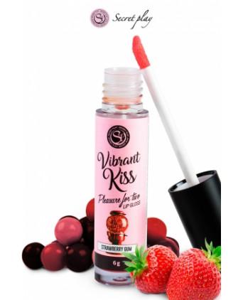 Brillant à lèvres stimulant - fraise bonbon - Jeux couple