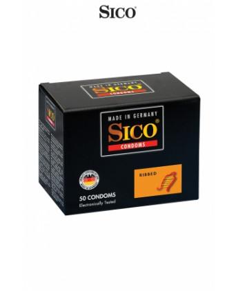 50 préservatifs Sico RIBBED - Préservatifs