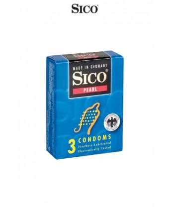 3 préservatifs Sico PEARL - Préservatifs