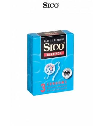 3 préservatifs Sico MARATHON - Préservatifs