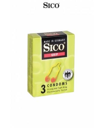 3 préservatifs Sico GRIP - Préservatifs