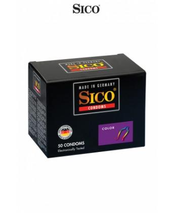 50 préservatifs Sico COLOUR - Préservatifs