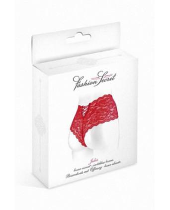 Boxer ouvert Julia - rouge - Dessous Sexy