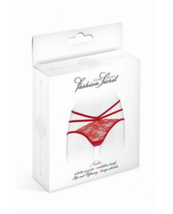 Culotte ouverte Nadia - rouge - Dessous Sexy