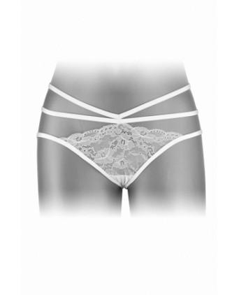 Culotte ouverte Nadia - blanc - Dessous Sexy