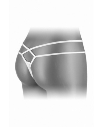 String ouvert Mylene - blanc - Dessous Sexy