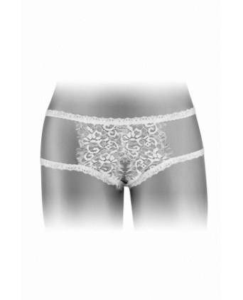 Culotte ouverte Emma - blanc - Dessous Sexy